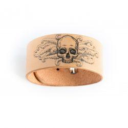 Anne Sancey - bracelet tatoué motif Crâne