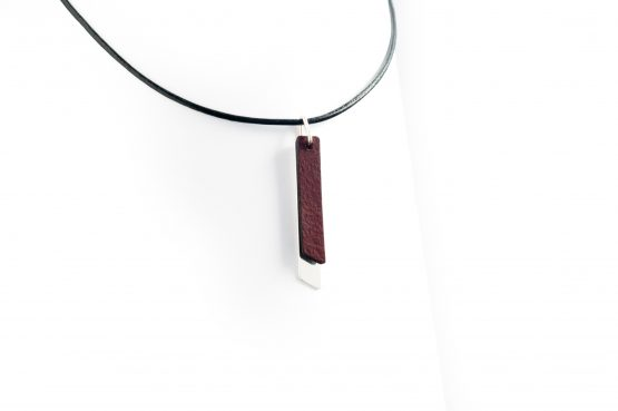 Anne Sancey, collier cuir acajou 5mm