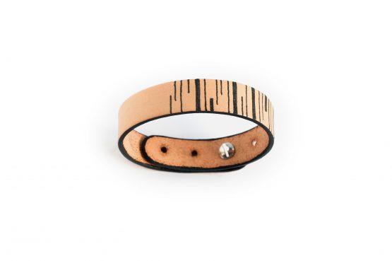 Anne Sancey - bracelet cuir tatoué lignes