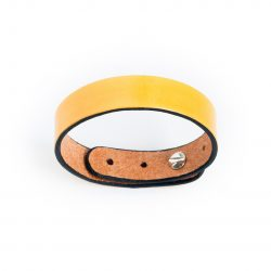 Anne Sancey, bracelet cuir jaune 15mm