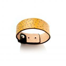 Anne Sancey - bracelet cuir tatoué croix 25mm