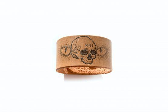 Anne Sancey - bracelet tatoué motif Crâne XIII